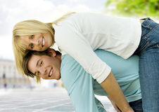 Young Smiling Couple  Stock Image