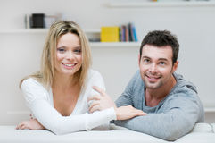 Young smiling couple portrait Royalty Free Stock Images