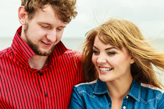 Young smiling couple portrait outdoor Royalty Free Stock Photos