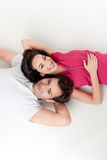 Young smiling couple relaxing Royalty Free Stock Photography