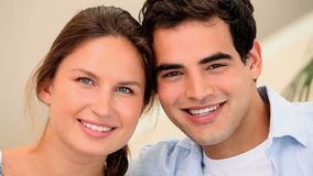 Young smiling couple stock video