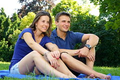 Young smiling couple royalty free stock image