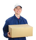 Young smiling courier Royalty Free Stock Photo