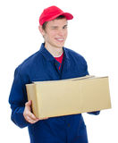 Young smiling courier Royalty Free Stock Photography