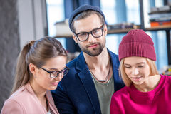Young smiling coworkers Royalty Free Stock Photos