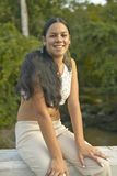 Young smiling Cuban girl in the Valle de Vi�ales, in central Cuba Royalty Free Stock Photo