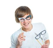 Young smiling cute teenager Royalty Free Stock Photos