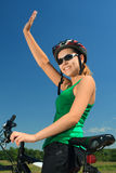 Young smiling cyclist Royalty Free Stock Photos
