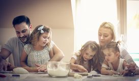 Fun in kitchen. royalty free stock photography