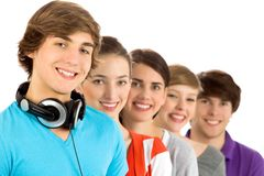 Young smiling friends Royalty Free Stock Photos