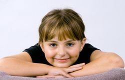 Young smiling girl stock image