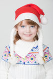 Young smiling girl with Christmas cup Stock Images