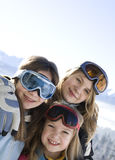 Young smiling girls Royalty Free Stock Image