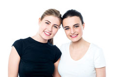 Young smiling girls looking at you Stock Photography