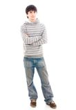 The young smiling guy isolated on a white Stock Photography