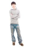 The young smiling guy isolated on a white Stock Photos