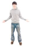 The young smiling guy isolated on a white Royalty Free Stock Images