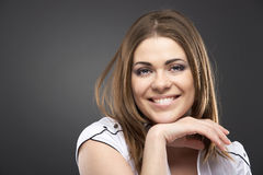 Young smiling happy woman portrait Stock Images