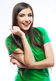 Young smiling happy woman Stock Photography