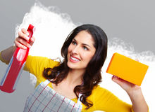Young smiling housewife. Stock Photo