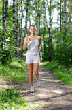 Young smiling jogger Royalty Free Stock Image