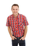 Young smiling & laughing man Royalty Free Stock Photos