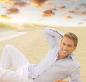Young smiling man Stock Images