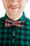 Young smiling man in bowtie Stock Photography