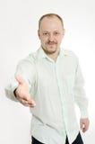 Man handshake Stock Image