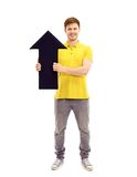 Young smiling man holding blank Pointer Stock Image