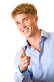 Young smiling man, isolated Royalty Free Stock Photography