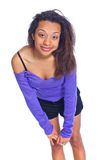 Young smiling  mulatto girl Royalty Free Stock Photography