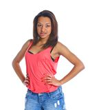 Young smiling mulatto girl Stock Photos