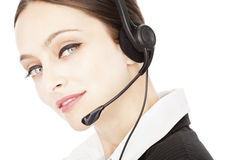 Young smiling operator Royalty Free Stock Photo