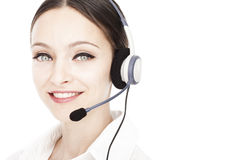 Young smiling operator Royalty Free Stock Images
