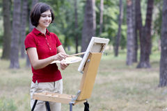 Young Smiling Painter Royalty Free Stock Photography