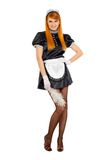 Young smiling redhead maid Royalty Free Stock Photography