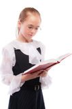 Young smiling schoolgirl read Royalty Free Stock Images
