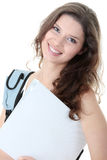 Young smiling student woman Stock Image