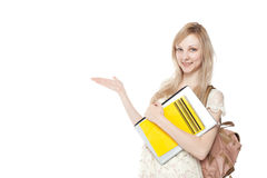 Young smiling student woman Royalty Free Stock Image
