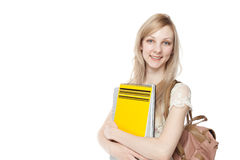 Young smiling student woman Stock Photo