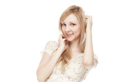 Young smiling student woman Royalty Free Stock Photos