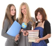 Young smiling students with books Stock Image