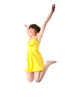 Young smiling teen girl jumping Royalty Free Stock Image