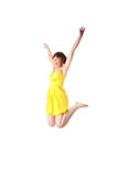 Young smiling teen girl jumping Royalty Free Stock Photo