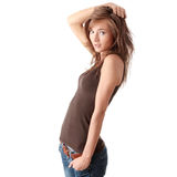 Young smiling woman. Royalty Free Stock Photos