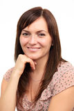 Young smiling woman. Portrait of young smiling woman Royalty Free Stock Image