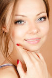 Young smiling woman Stock Images