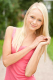 Young and smiling woman Stock Photography