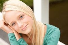 Young and smiling woman Stock Photo